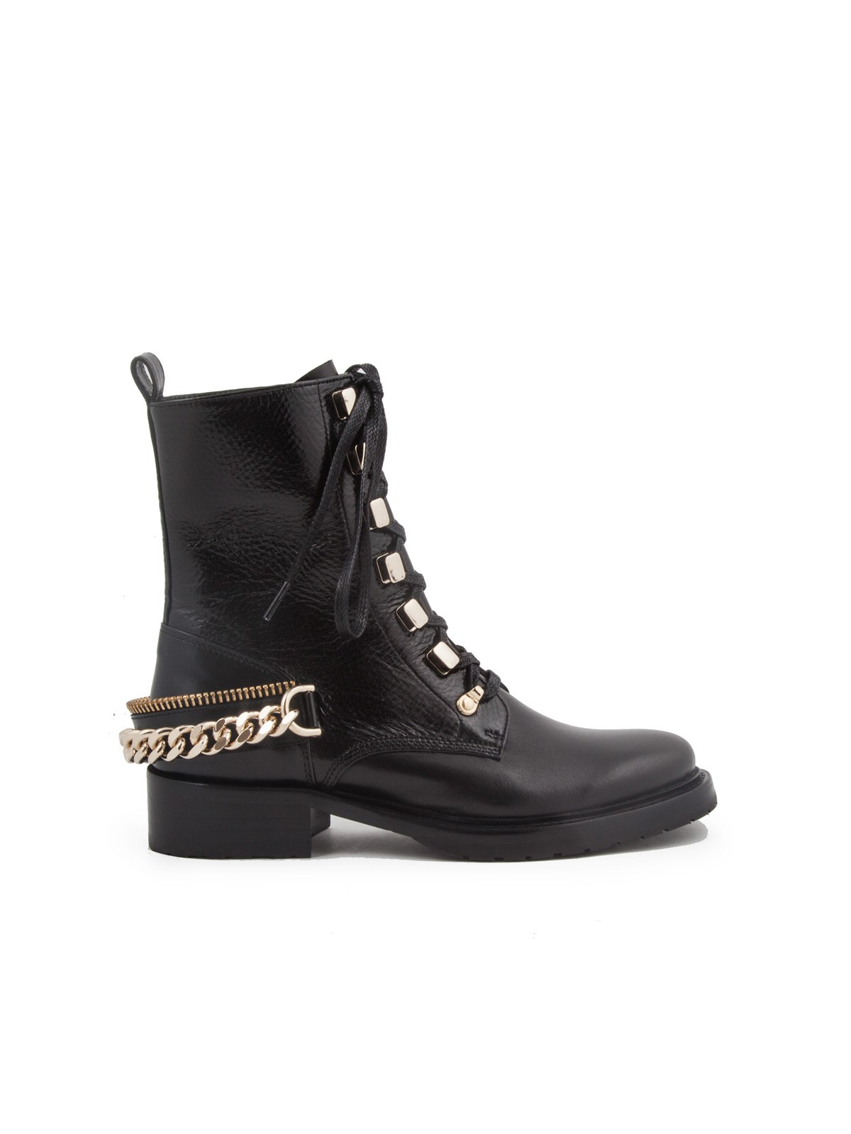 5b8272e4bdd lanvin CHAIN-EMBELLISHED COMBAT BOOTS available on montiboutique.com ...