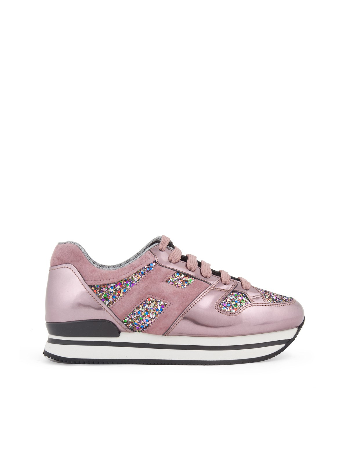 GLITTER SNEAKERS WITH LOGO