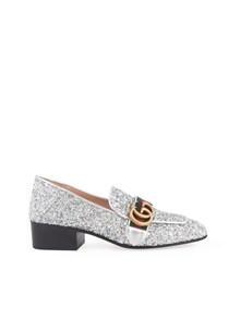 GUCCI GLITTER MIDDLE HEELED LOAFERS