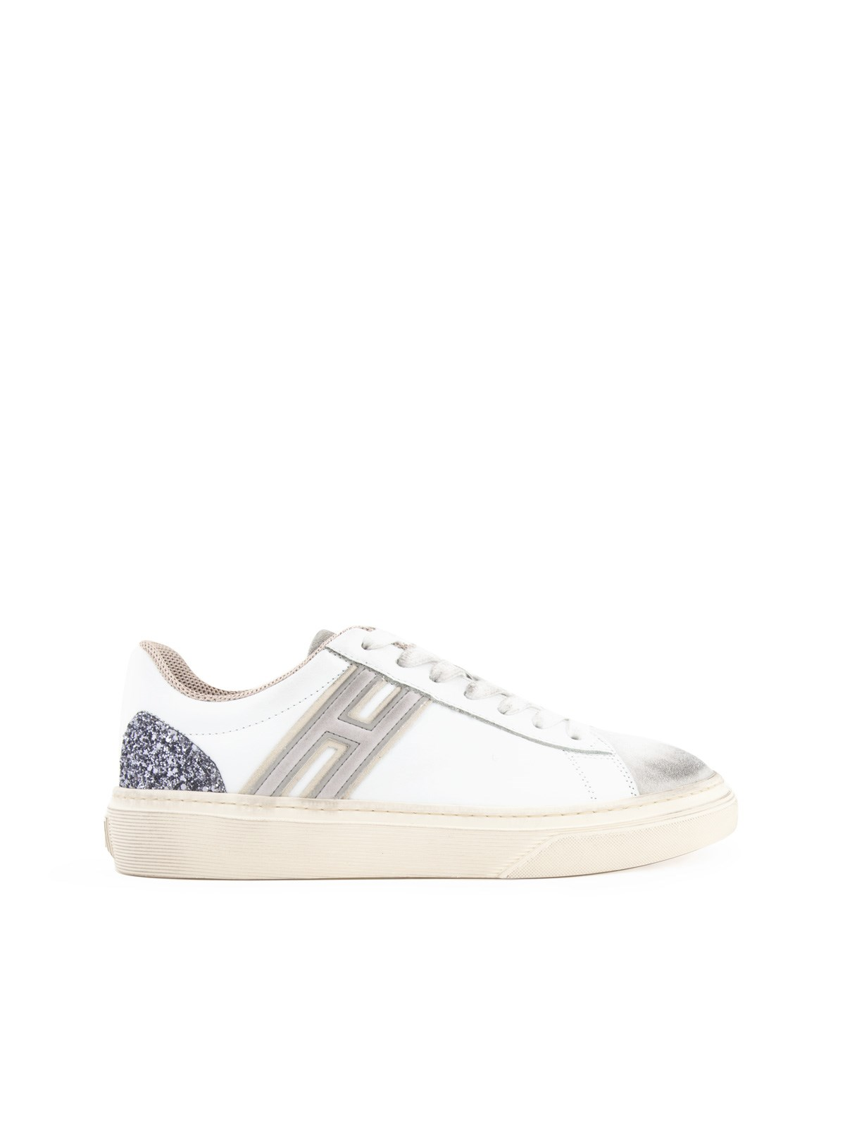 LACE-UP SNEAKERS WITH GLITTER DETAIL