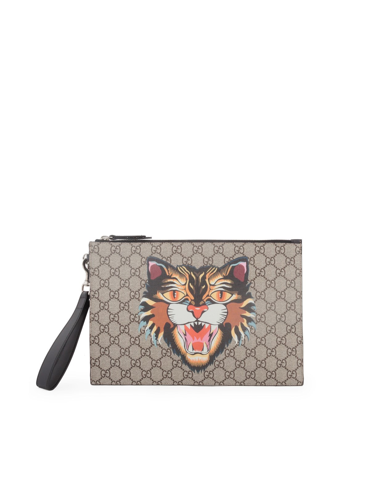 5914d4cf83f9 gucci GG SUPREME CLUTCH ANGRY CAT PRINT available on montiboutique ...