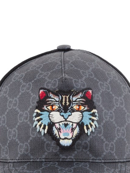 49f97863aa568b gucci GG SUPREME ANGRY CAT BASEBALL CAP available on montiboutique ...
