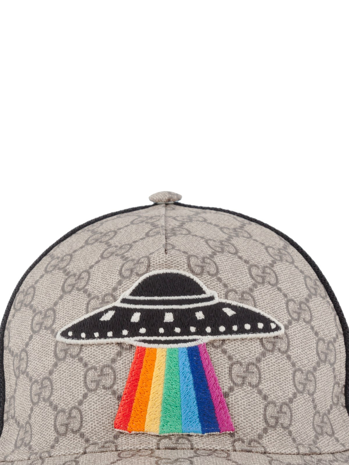 5fbc76386aa gucci GG SUPREME UFO APPLIQUE BASEBALL CAP available on ...