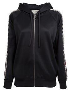 GUCCI CRYSTAL EMBROIDERED ZIPPED SWEATSHIRT