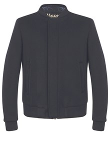 HERNO BUTTON BOMBER JACKET