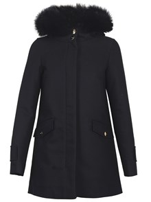 HERNO COAT WITH FUR HOODIE