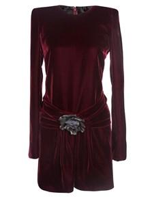 SAINT LAURENT PARIS DRESS WITH ROSE DETAIL