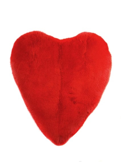 SAINT LAURENT HEART DESIGN FUR