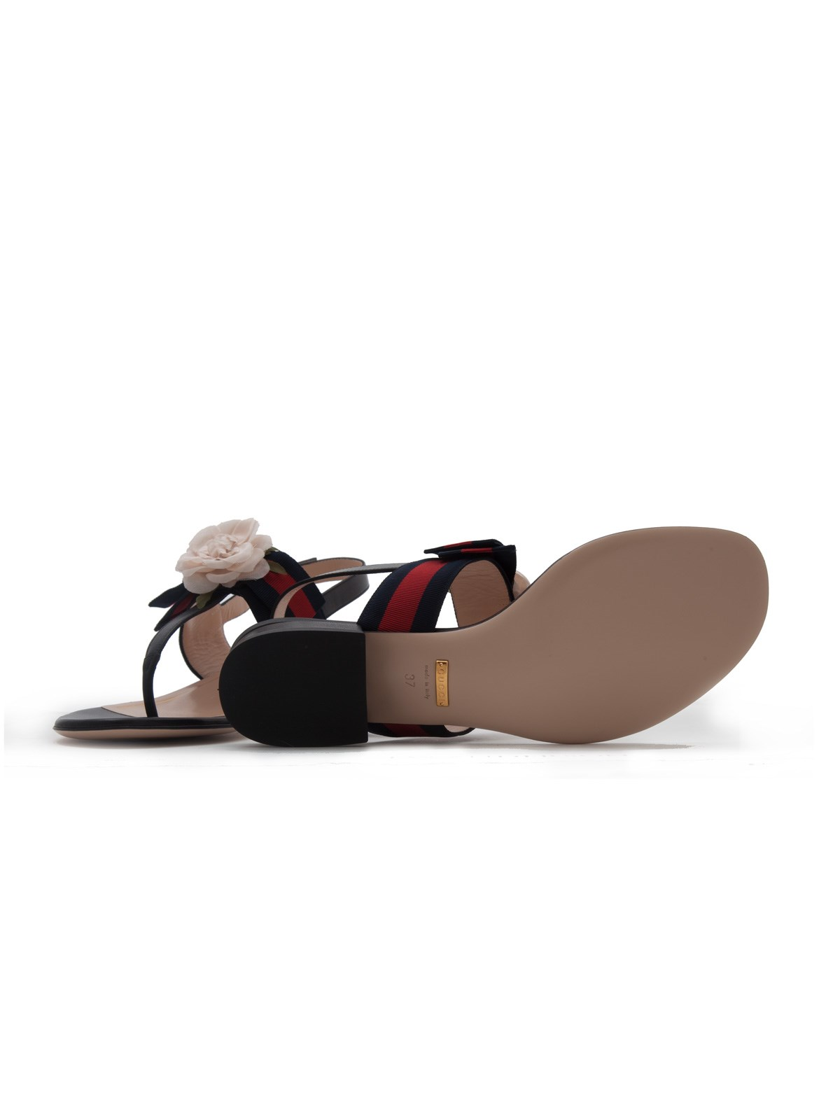 6fceda6af751 gucci WEB DETAIL SANDALS WITH FLOWER available on montiboutique.com ...