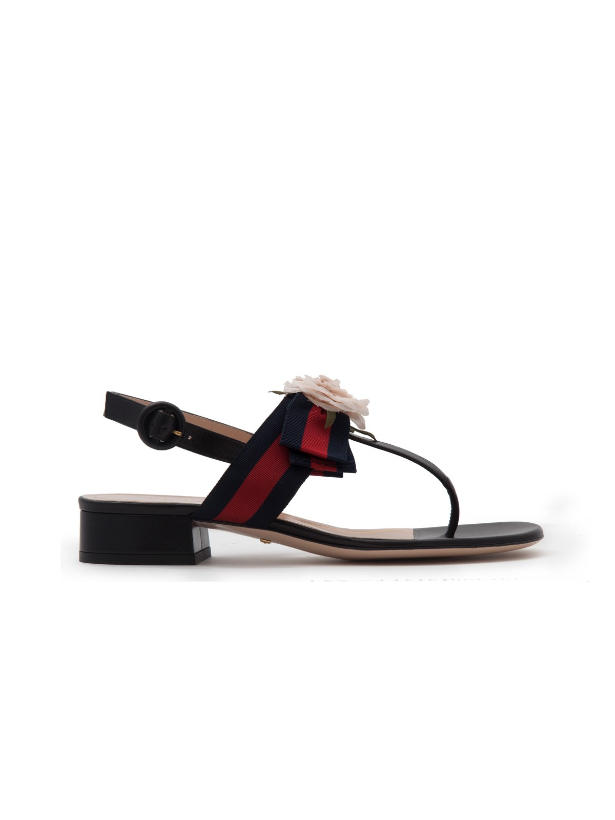 8db14aa1621a gucci WEB DETAIL SANDALS WITH FLOWER available on montiboutique.com ...