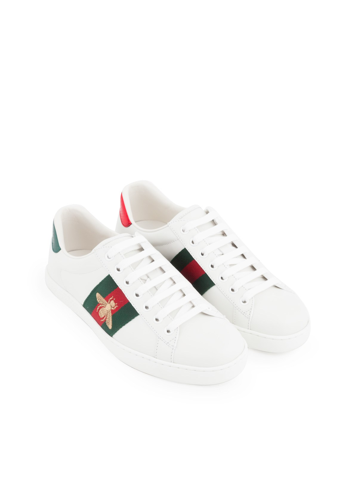 gucci SNEAKERS WITH EMBROIDERED BEE