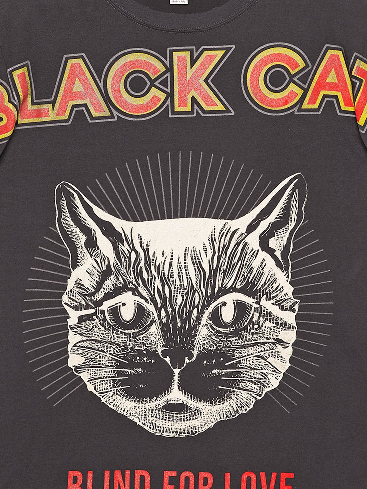 4542eefd8 gucci BLACK CAT PRINTED T-SHIRT available on montiboutique.com - 21508