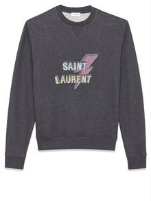 SAINT LAURENT PARIS LOGO SWEATSHIRT