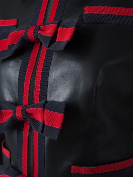 GUCCI LEATHER JACKET WITH BOWS