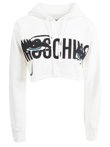MOSCHINO CROP SWEATSHIRT