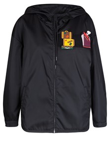PRADA NYLON JACKET WITH APPLIQUES