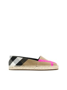 BURBERRY CHECK MOTIF ESPADRILLAS