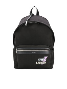 SAINT LAURENT PARIS LIGHTING BOLT LOGO BACKPACK