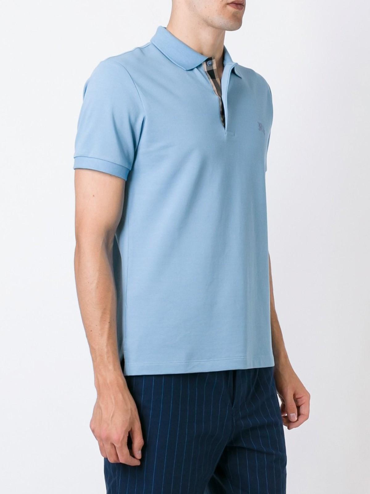 Blue Burberry Polo