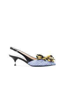 PRADA MISS-MATCH BOW PUMPS