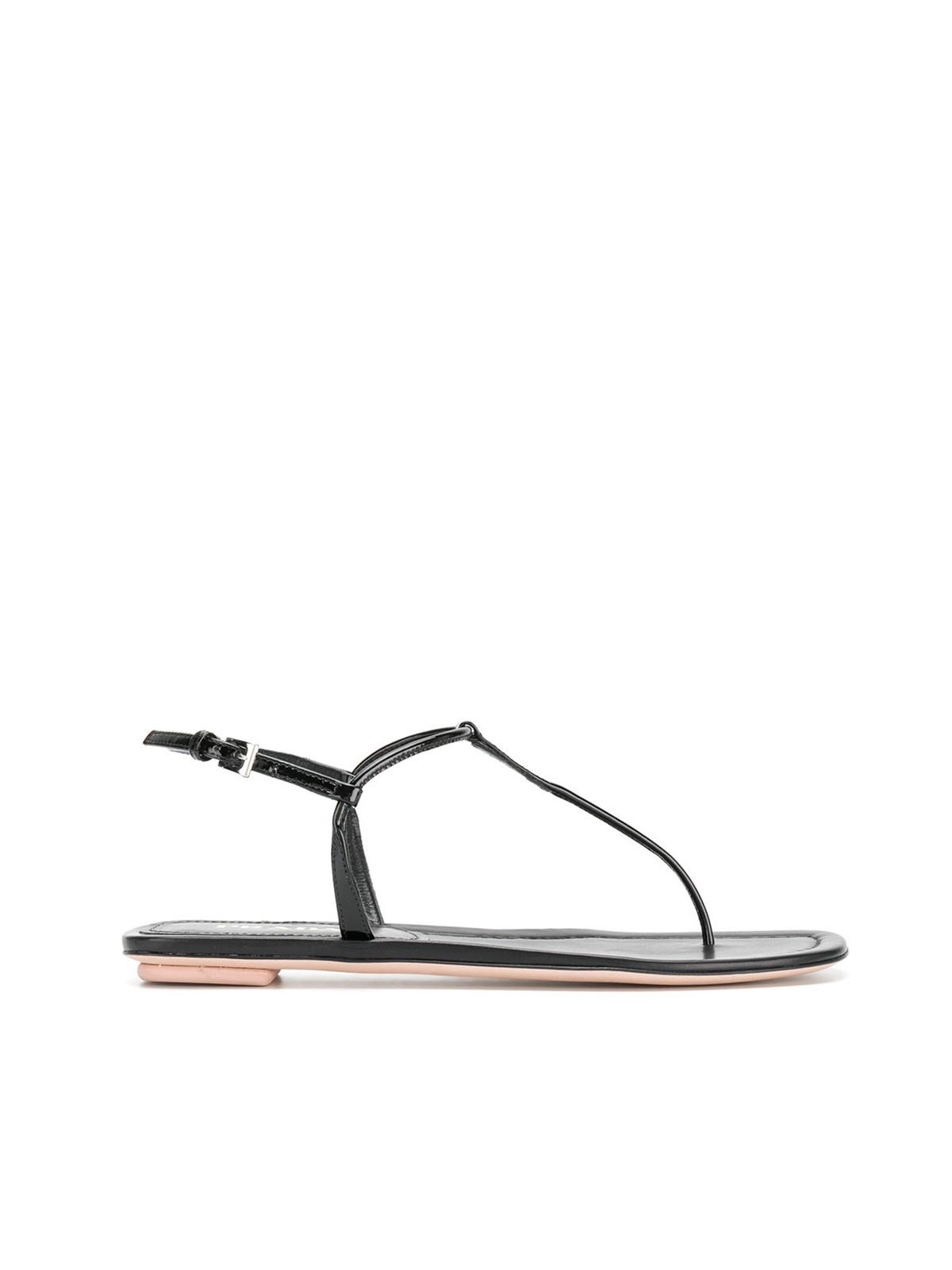 Prada T-bar sandals outlet best place new cheap online deals for sale 3P2nx