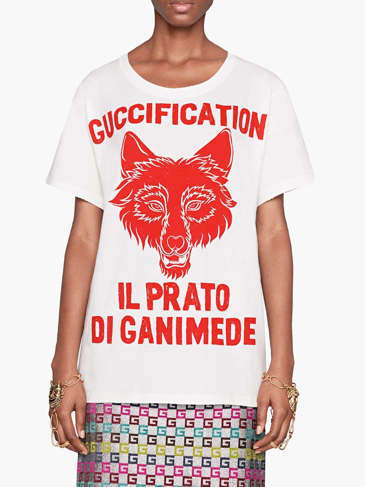 9307b491cfe gucci IL PRATO DI GANIMEDE GUCCIFICATION PRINT T-SHIRT available on ...