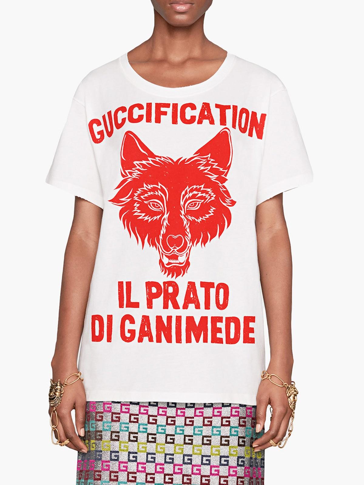 ccbe429635b gucci IL PRATO DI GANIMEDE GUCCIFICATION PRINT T-SHIRT available on ...