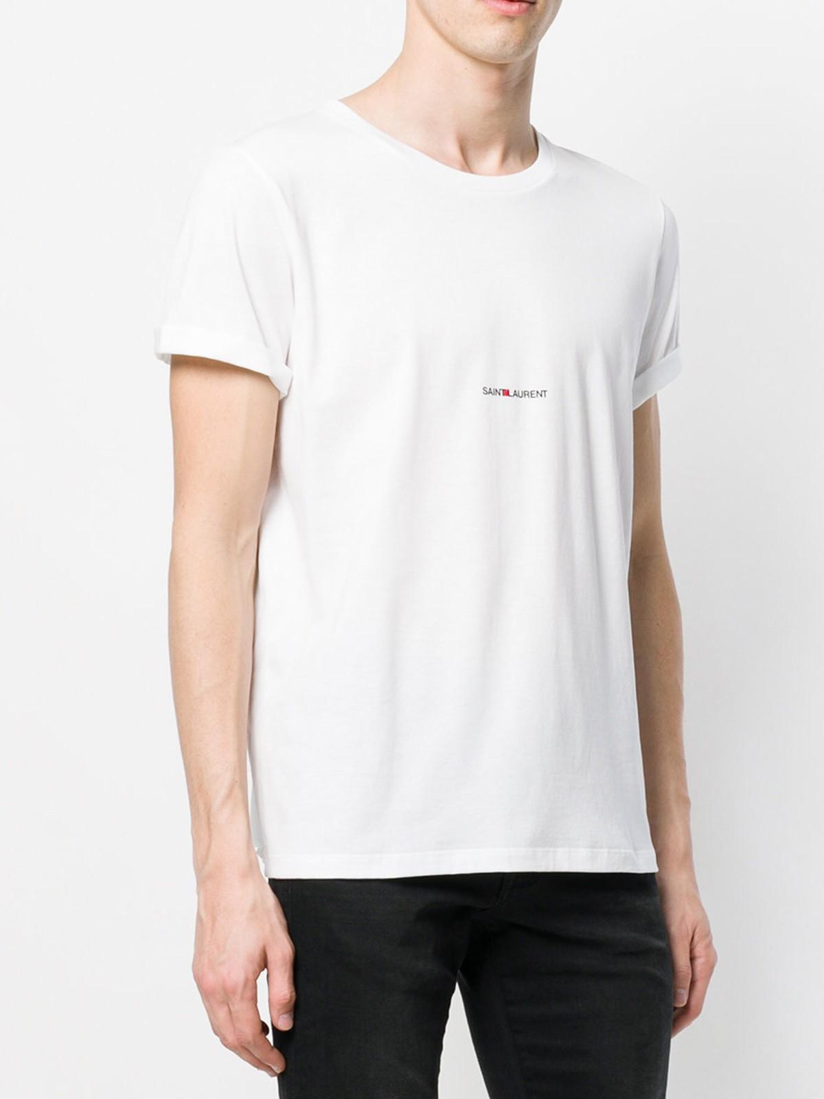 saint laurent logo t shirt available on. Black Bedroom Furniture Sets. Home Design Ideas