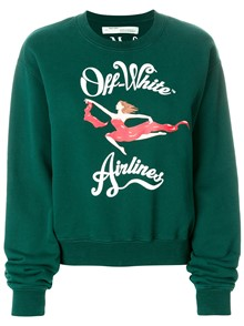 OFF-WHITE AIRPLANES PRINT SWEATER