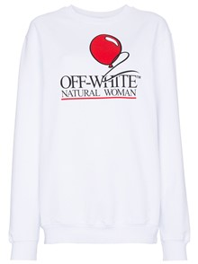 OFF-WHITE NATURAL WOMAN SLOGAN SWEATER