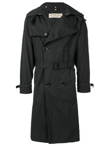 BURBERRY HOODIE DOUBLE-BREASTED TRENCH COAT