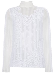 VALENTINO HIGH NECK LACE TOP