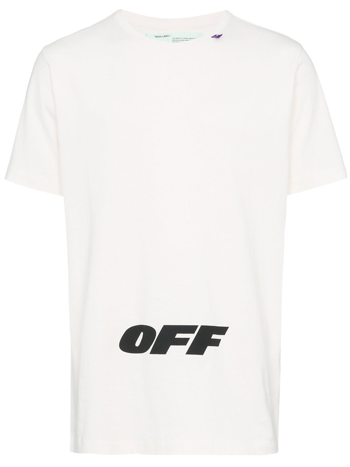 off white logo t shirt available on 22569. Black Bedroom Furniture Sets. Home Design Ideas