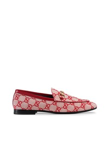 GUCCI  GG CANVAS JORDAAN LOAFERS