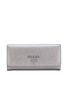 PRADA PLAQUE LOGO CONTINENTAL WALLET