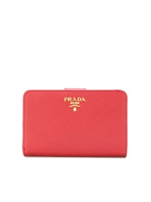 PRADA LOGO ZIPPED WALLET