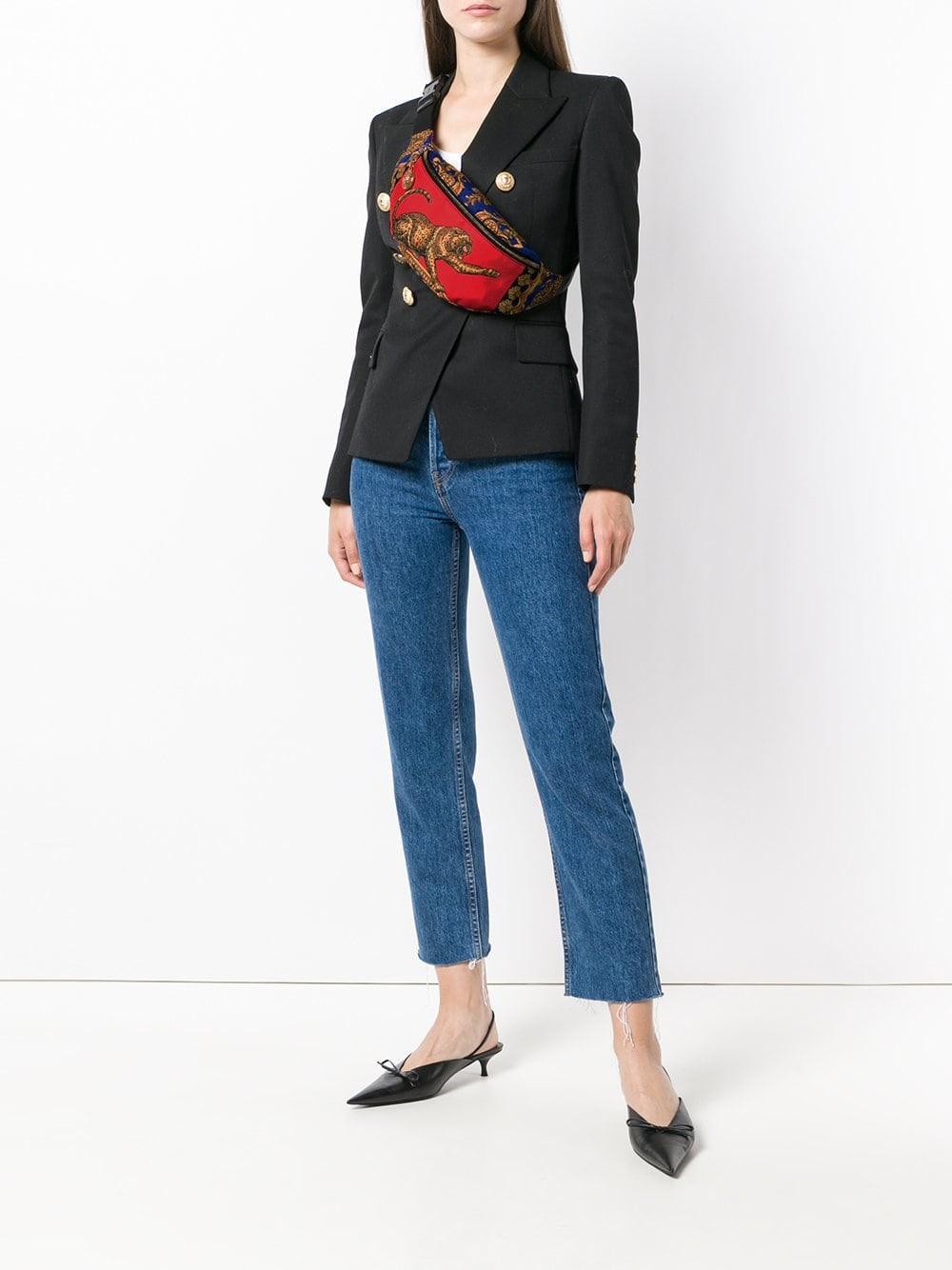 Bolso de cinturón barroco estampado de con Versace rqX1OxrwTH