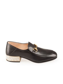 GUCCI CRYSTAL HEEL LOAFERS