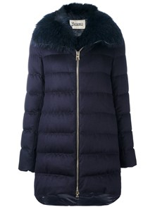 HERNO FUR COLLAR PADDED COAT