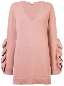 RED VALENTINO FLOUNCE SLEEVES JUMPER