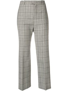 RED VALENTINO CHECK MOTIF TROUSERS