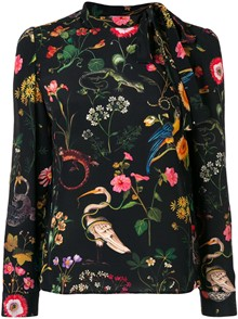 RED VALENTINO FLORAL PRINT SHIRT