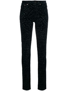 SAINT LAURENT LEOPARD PRINT TROUSERS