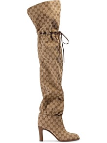 GUCCI GG PRINT OVER THE KNEE BOOTS