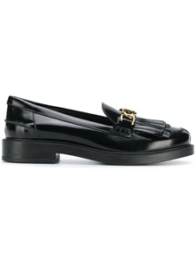 TOD'S BUCKLE FRINGED LOAFERS