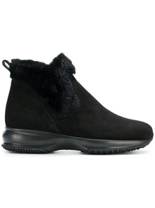 HOGAN SUEDE BOOTS WITH FUR