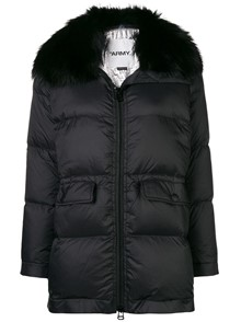 YVES SALOMON FUR COLLAR PADDED COAT