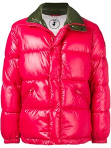 SAVE THE DUCK CONTRASTED NECK PADDED JACKET