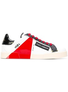 DOLCE & GABBANA CONTRASTED PANEL SNEAKERS