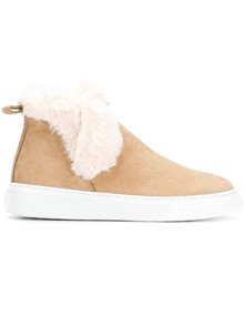 HOGAN FUR ANKLE BOOTS